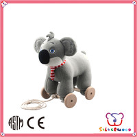 ICTI Factory new hot funny stuff baby funny pull line animal toys