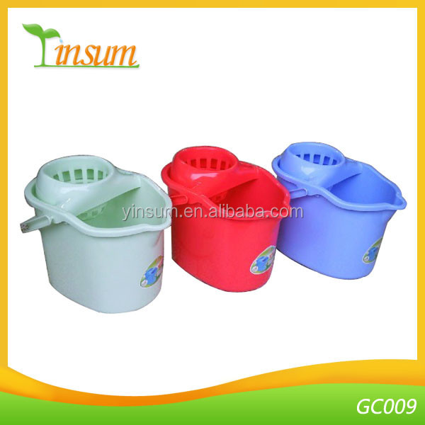 Plastic Household Water Mop Bucket And Wringer with Handle