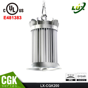 hottest IP65 200w gas station led high bay light UL led high bay light 5 years warranty