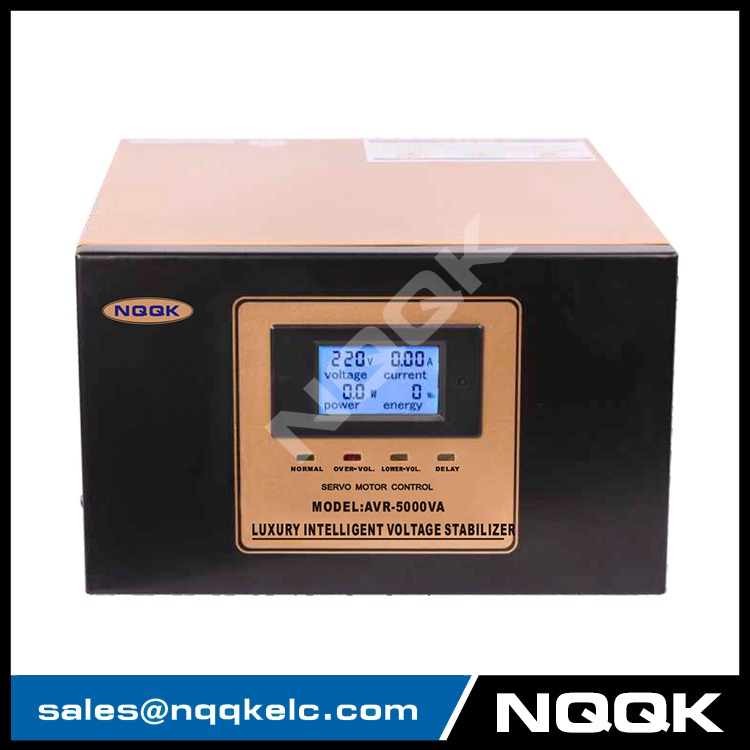 nqqk electric 5000w servo motor type full power AC automatic voltage stabilizer 5kva