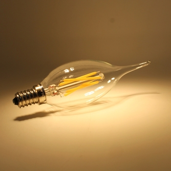 CE ETL UL approved C35 B10 LED filament bulb with bent tip
