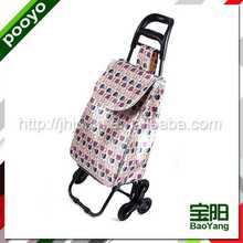 foldable hand cart foldable plastic shopping trolies