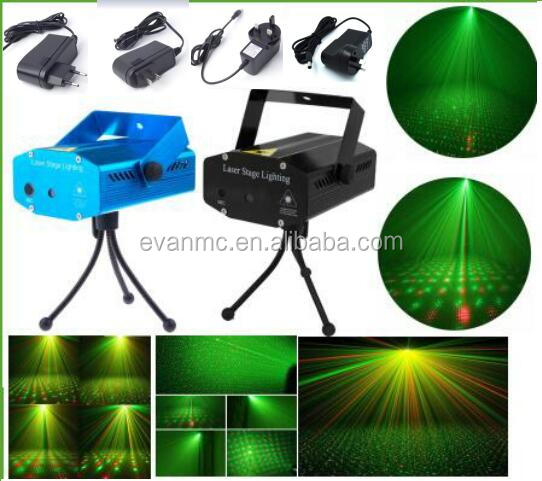 Hot Sale Red &Green Voice Led Twinkling Star KTV Bar Mini Laser Stage Lighting
