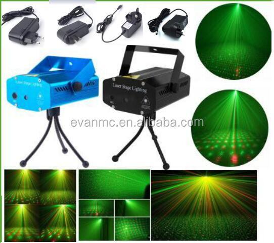 Hot Sale Red &Green Voice Led Twinkling Star KTV Bar Mini Laser Stage Lighting