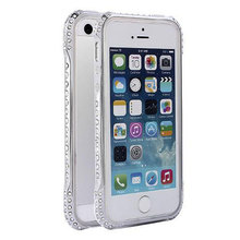 Shining Bling Diamond Metal Bumper For iPhone 5 5S Frame Case Cover