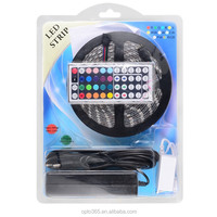 5M 5050 SMD RGB LED Strip Complete Set Waterproof, LED Light Strip with 44 Keys LED Controller and Driver