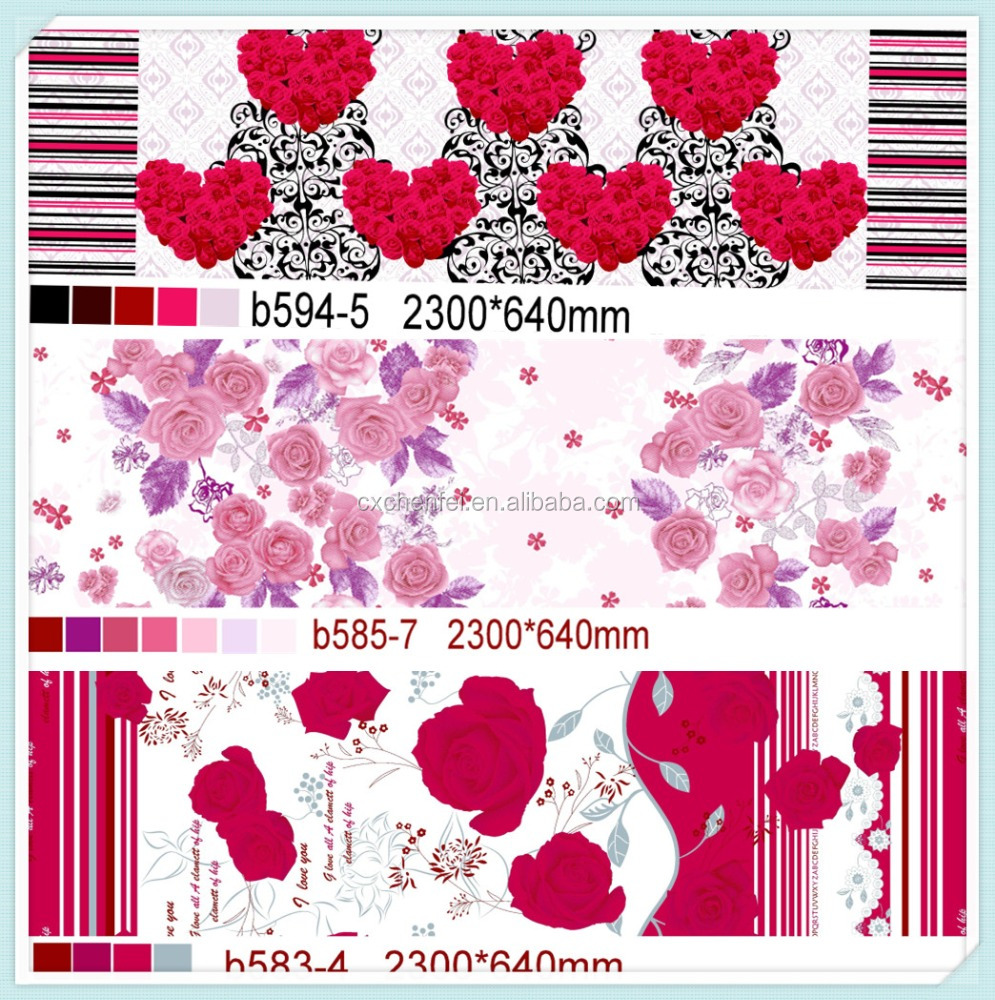 100% Pure Polyester Fabrics Printed With Different Designs 100% Polyester Textile Printed Abstract Design Satin Fabric