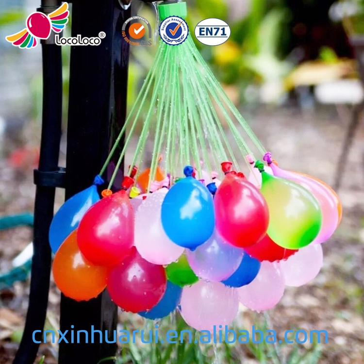 China hot selling Kids toy 3 bunches 111 pieces Filled in a Minute fluorescence color water balloons