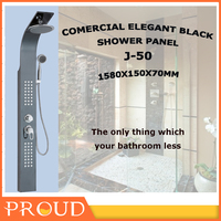 CHINA SUPLIER GUANGDONG BLACK SHOWER PANEL WITH FAUCET MIXER JG-50