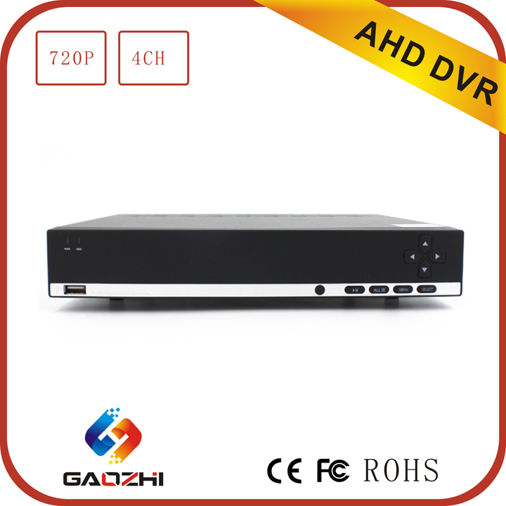 high quality 2 USB 2.0 ports 720P h 264 dvr 4 channel