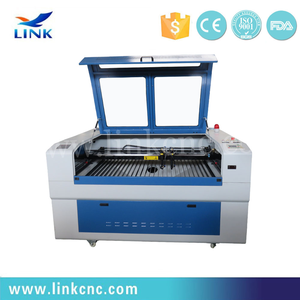 Competitive price CO2 laser cutting and engraving machine with up-down table and rotary engraving