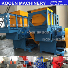KOOEN Used pp plastic woven bags shredder / Waste HDPE LDPE plastic film shredder machine for sale