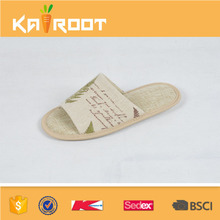 2016 summer natural linen men footwear designs slippers sandals