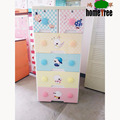 Cute Design Plastic Top Key Durable Baby Bedroom Waterproof Cabinets With 5 Drawers