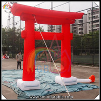 GB cheap red inflatable torii arch inflatable memorial archway for sale from China