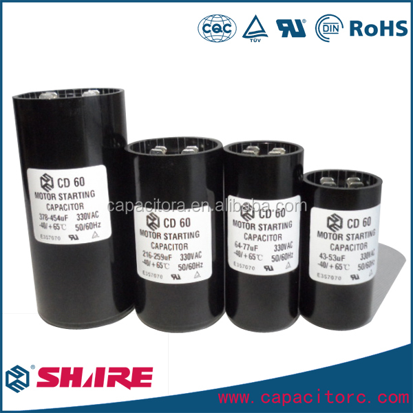 220V 108-130mfd CD60 Type Non-Polarized Electrolytic Capacitors