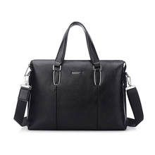Simple Atmosphere computers laptops Genuine Leather Bags Men's Business Messenger Bags Handbags Made In China Manufacturer