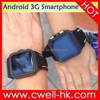 IP67 Wrist Watch Phone Android 4.4 Waterproof Android Smart Phone Watch Phone GSM 3G WCDMA
