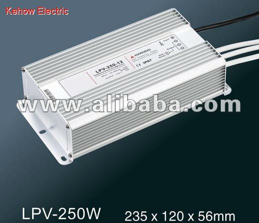 250W IP67 LED constant voltage waterproof switching power supply 220V LPV-250W 1year warranty