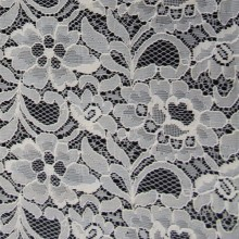 african lace fabrics 5 yards white nylon cotton fabric for lady's dress