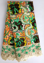 Wholesale price 100% cotton material african wax prints fabric 6 yards