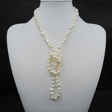 80cm BAROQUE LONG PEARL JEWELRY NECKLACE 100% NATURAL FRESHWATER PEARL