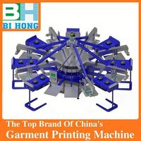 Factory selling 4 color 4 station t-shirt screen printing machines