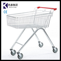 High Quality 90L Australian type shopping cart ,can be printed logo