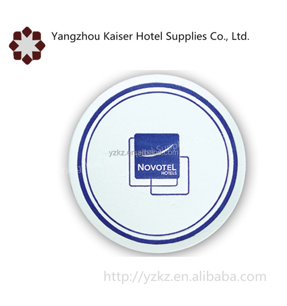 hotel guestroom amenities disposable absorbent paper coaster