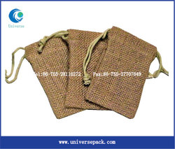 Custom Drawstring Burlap Pouch Blank Design Wholesale Made For Export Packing Bags