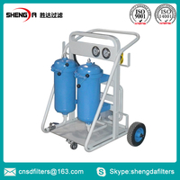 Movable high efficiency hydraulic oil cleaning machine