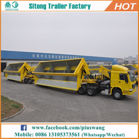 China manufacturer Heavy duty tandem tipper trailer quality side tipping trailers