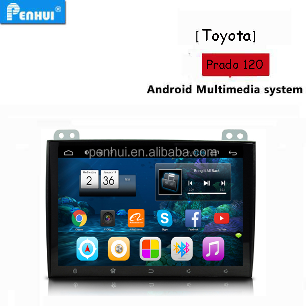 PENHUI Android Special Car multimedia Player for Toyota Prado 120 2004-2010 Support RDS+ BT+Wifi+DVR+TPMS + 3G