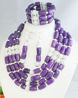 Factory direct sale!!! unique nature purple coral jewelry set 2015 KM31007