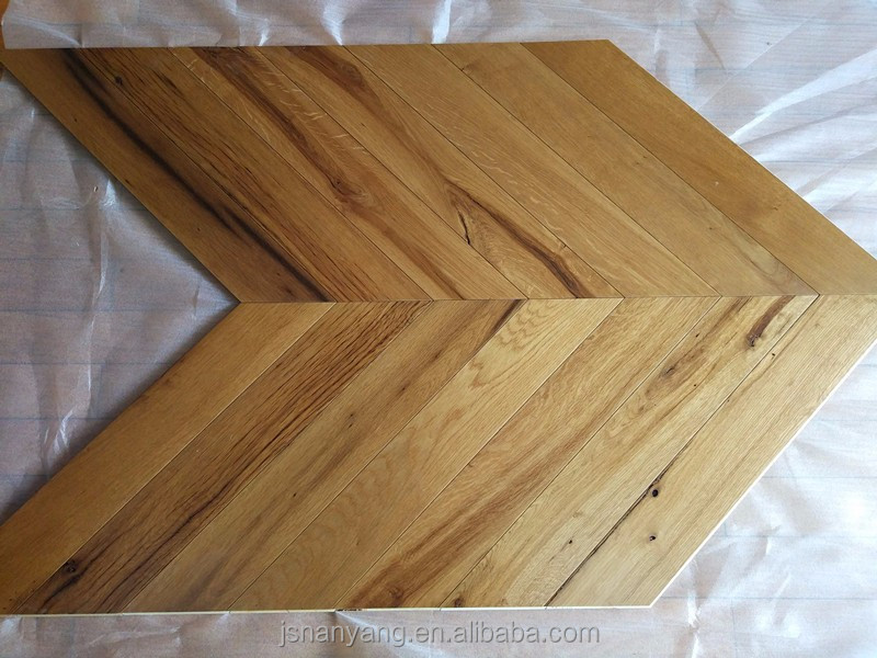 Viejo roble Natural multicapa parquet chevron