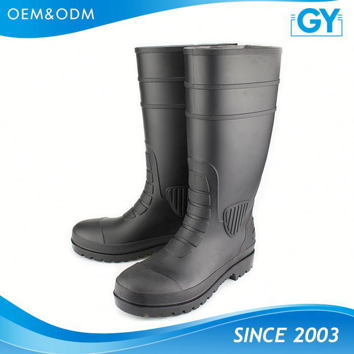 Factory making high quality working place pvc safety boot