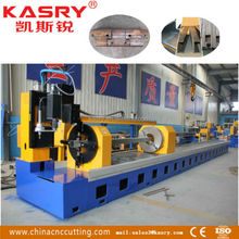 Kasry world famous square tube cutting machine//cnc plasma flame cutting machine//carbon steel beveling branch pipe cutter