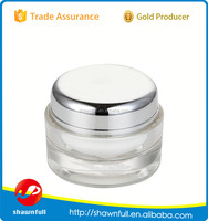Clear cosmetics round makeup empty body cream jars plastic containers
