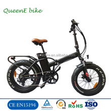 20' hot sales beach cruiser folded fat tire 48V500W electric bike /foldable electric bicycle