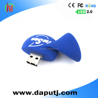 Soft pvc usb flash drive water drop shape usb flash dive key pen drive 128gb customized logo available