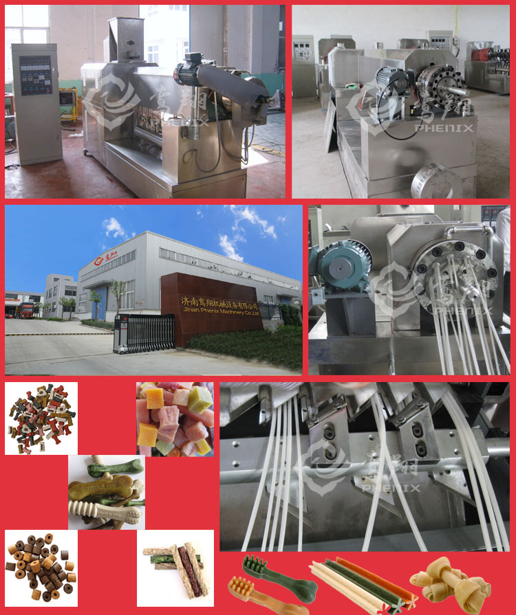 automatic pet dog chews / treat extruder machine production line
