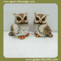 Terra cotta owl garden ornaments