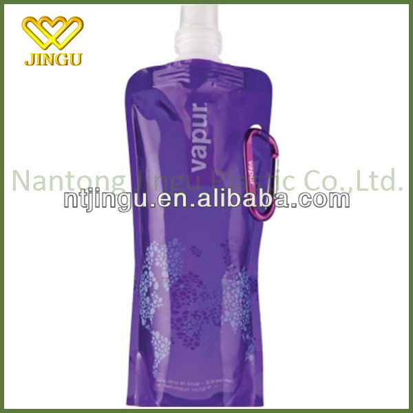 Unique easy carrying foldable reusable Sport water bottle and bottled water
