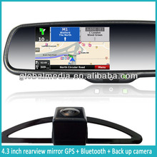 car gps navigation rearview mirror with original map available/homelink