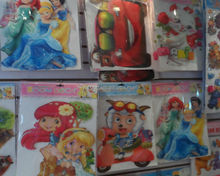 Cartoon characters mirror decorative wall sticker