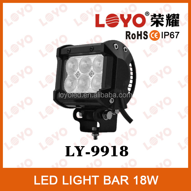 IP67 18w led light bar hot sxs led light bars