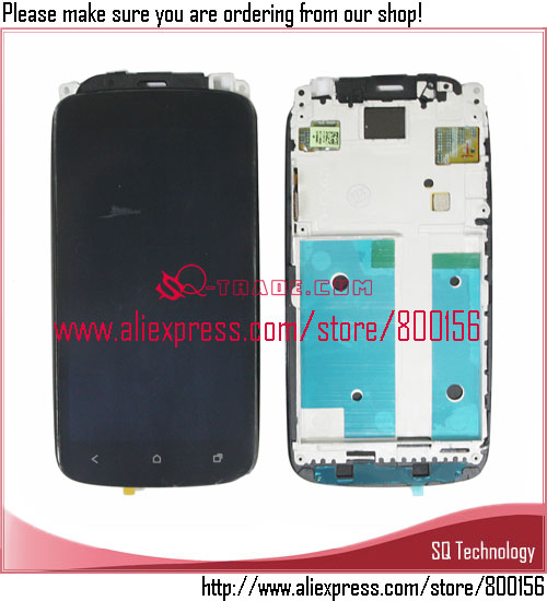Mobile Phone Spare Parts for HTC One S Screen Digitizer Touch Panel Assembly and Frame