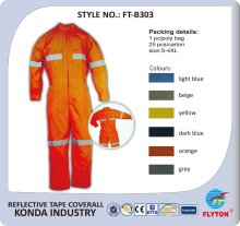 2016 fashionable design reflective safety orange hi-vis coveralls