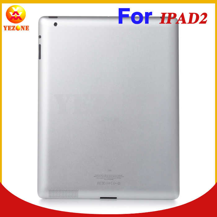 Original Rear Cover For Apple iPad 2 3G Wifi Version Silver Aluminum Battery Back Cover Door Housing Repair Parts