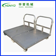 Stainless steel flat trolley cart